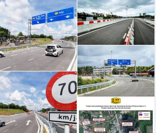 Berhati-hati ketika melalui jejambat Batu 4, Kuching