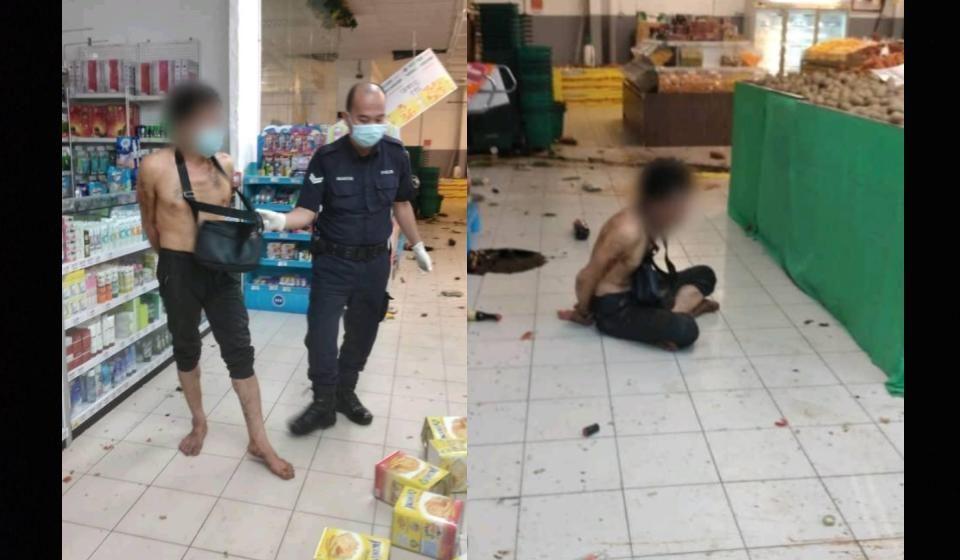Lelaki pecah masuk sebuah pasar raya ditahan