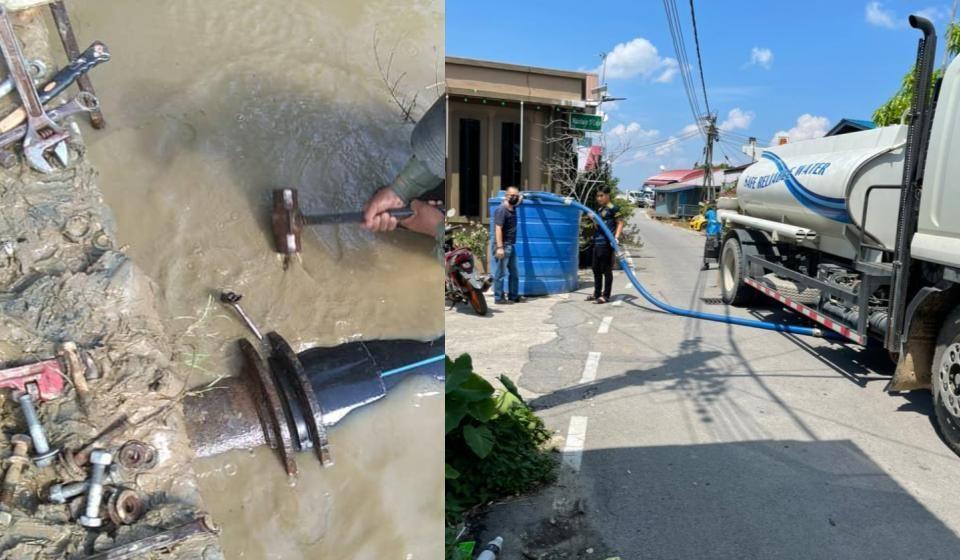 JBALB Betong bekal air bersih kepada penduduk terjejas