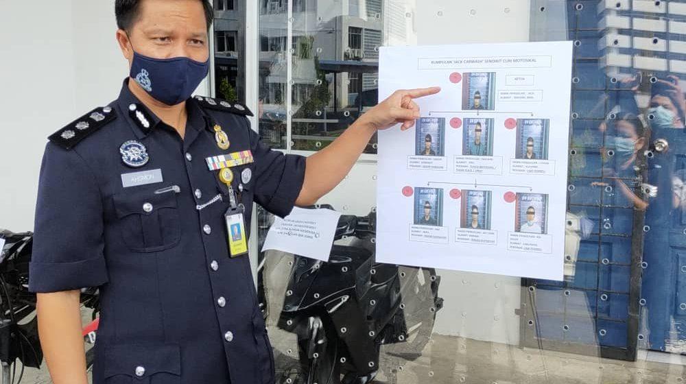 Geng Jack aktif curi motosikal di Kuching tumpas