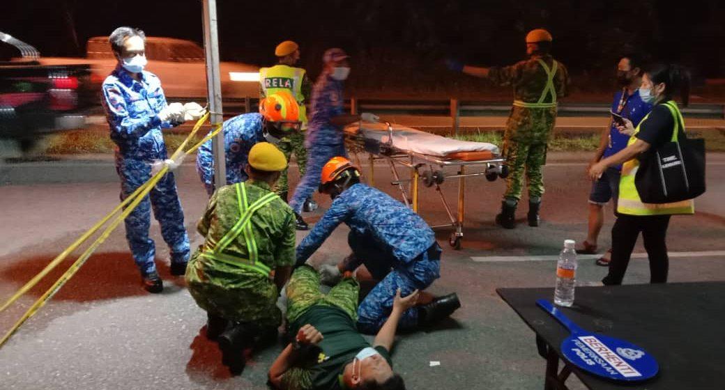 Anggota Rela patah kaki dilanggar remaja rempuh SJR