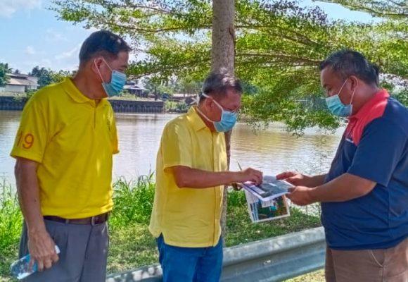 Binting ba tebing sungai Kpg Sinar Budi Lama deka digaga