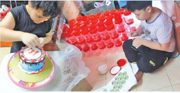 Dekorasi kek ceriakan anak