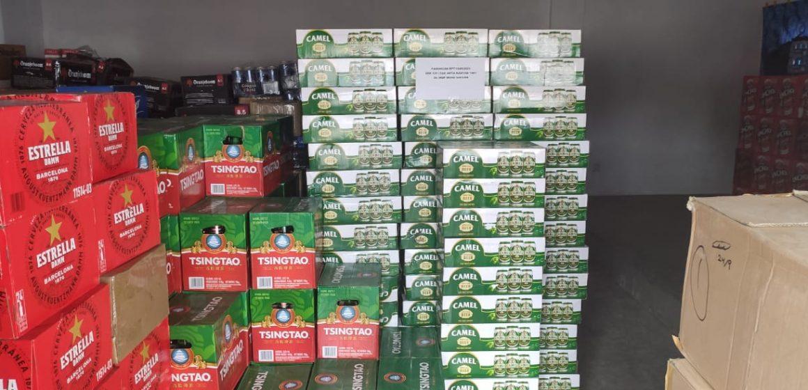 Minuman keras, rokok tidak bercukai bernilai RM1.15 juta dirampas